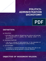 Politics Administration Dichotomy