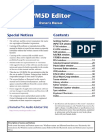 Yamaha PM5D Editors Manual