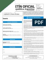 Boletín Oficial de la República Argentina, Número 33.576. 02 de marzo de 2017