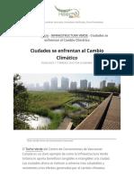 Ciudades se enfrentan al Cambio Climático - Helecho Ecotelhado