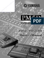 Yamaha PM5D Owners Manual