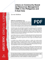Reflections on Community Based Coastal Resources Management (CB-CRM) in the Philippines and South-East Asia