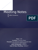 Meeting Notes Week 13