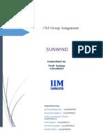 [OM - Group Assignment - Sunwind][Group No. 3].docx