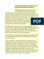 How Does the Nutrition Analysis of Regular Green Tea