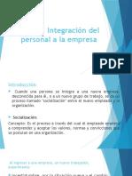 Integracion Del Personal en La Empresa