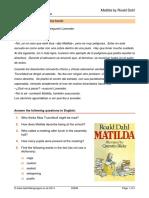Preguntas Libro Matilda