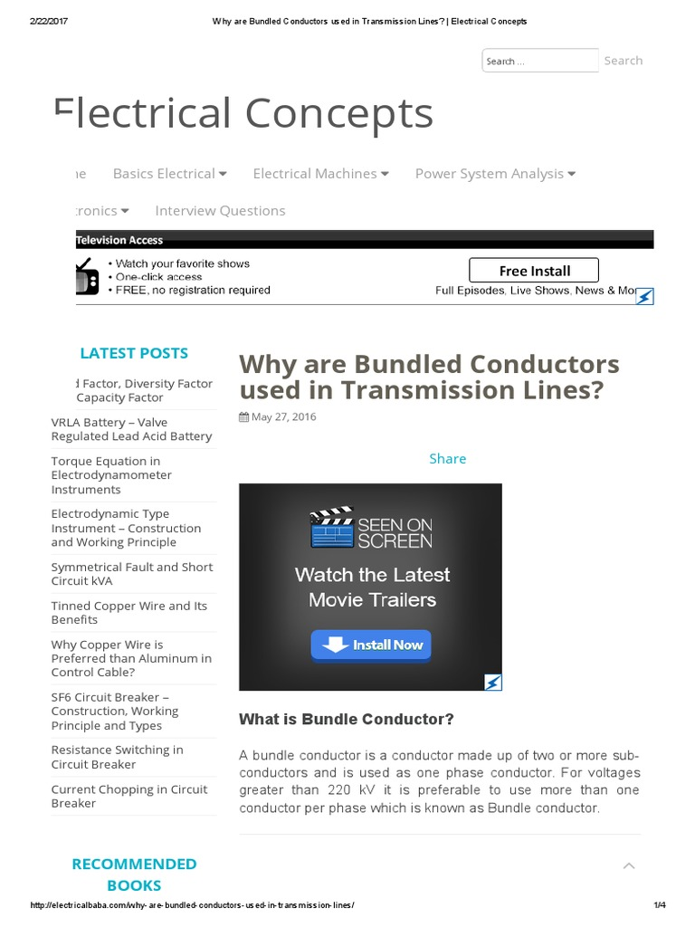 Bundled Conductors | Electrical Conductor | Electric Power