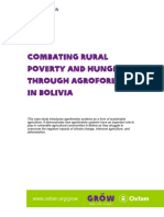 Combating Rural Poverty and Hunger Through Agroforestry in Bolivia