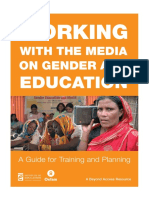 Working with the Media on Gender and Education