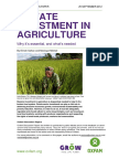 Private Investment in Agriculture