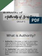 authority of scriptures