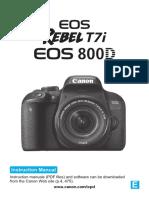 Eos Rebelt7i 800d Im En