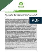 Finance for Development