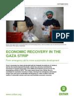 Economic Recovery in the Gaza Strip