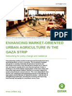 Enhancing Market-Oriented Urban Agriculture in the Gaza Strip