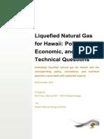 Hawaii LNG Econmoics