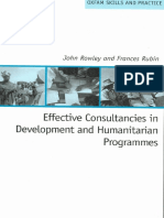Effective Consultancies in Development and Humanitarian Programmes