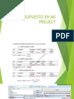 Presupuesto en Microsoft Project