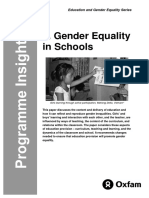 Gender Equality in Schools
