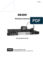 HME DX200 User Guide
