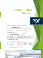 Presentación Ms Project Presupuestos