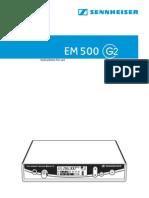 Sennheiser EM500 User Guide