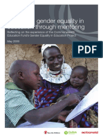 Promoting Gender Equality in Education through Mentoring