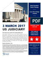 Speaking Event 1 - Spring 2017 - US Judiciary