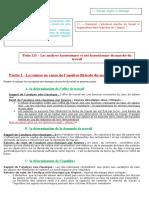 Fiche 213 – Les Analyses Keynésiennes Et Néo-keynésiennes Du Marché Du Travail