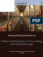 Howard Kirschenbaum Values Clarification in Counseling and Psychotherapy Practical Strategies for Individual and Group Settings Oxford University Press 2013