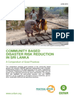 Community based disaster risk reduction in Sri Lanka