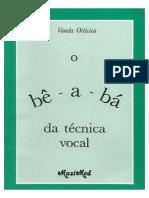 O Be a Ba Da Tecnica Vocal_ Vanda Oiticica
