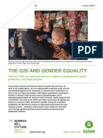 The G20 and Gender Equality