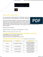 Travel Information _ Kayak Ecuador - Bus Schedule Quito - Baeza - Tena