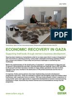 Economic Recovery In Gaza