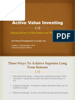 Active Value Investing Notes