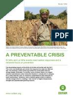 A Preventable Crisis