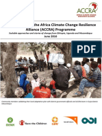 Briefing note on the Africa Climate Change Resilience Alliance (ACCRA)