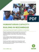 Humanitarian capacity-building in Mozambique