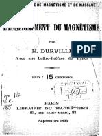 Durville Hector - L Enseignement Du Magnetisme
