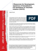 Local Resources for Development, the experience of Somaliland's General Assistance and Volunteer Organization (GAVO)