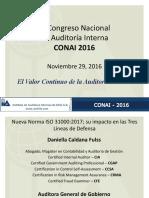 IAI Chile CONAI 2016 Daniella Caldana Chile