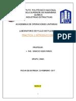 Instituto Politécnico Nacional practica 1 flujo de fluidos