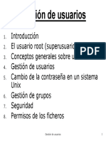 Gestion de Usuarios