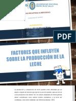 Factores Que Influyen Sobre La Produccion de La Leche