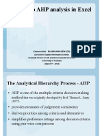 How to do AHP analysis in Excel.pdf