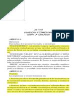 Convencion Interamerica Contra La Corrupcion - Ley 24.759