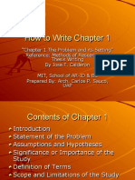 How to Write Chapter 1