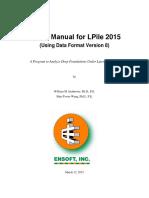 LPile 2015 User Manual